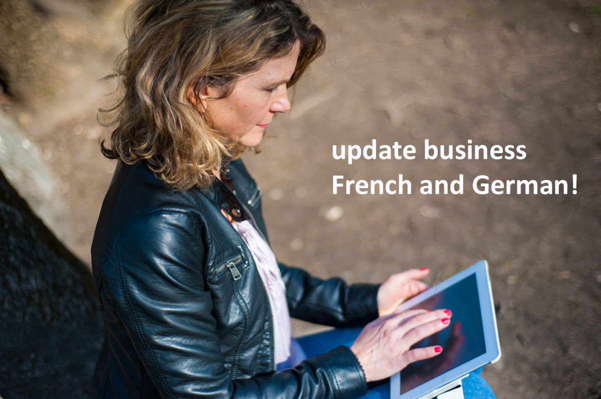 update business French and German!