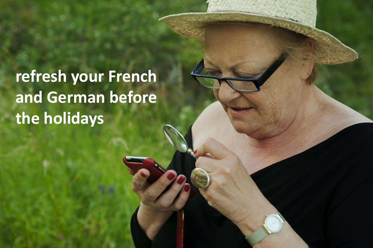 refresh your French and English befor the holidays