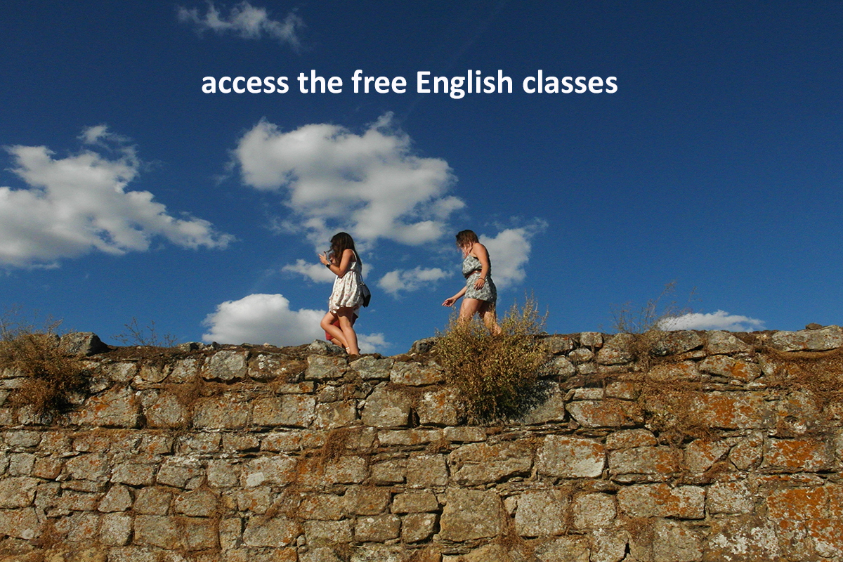 access the free English classes